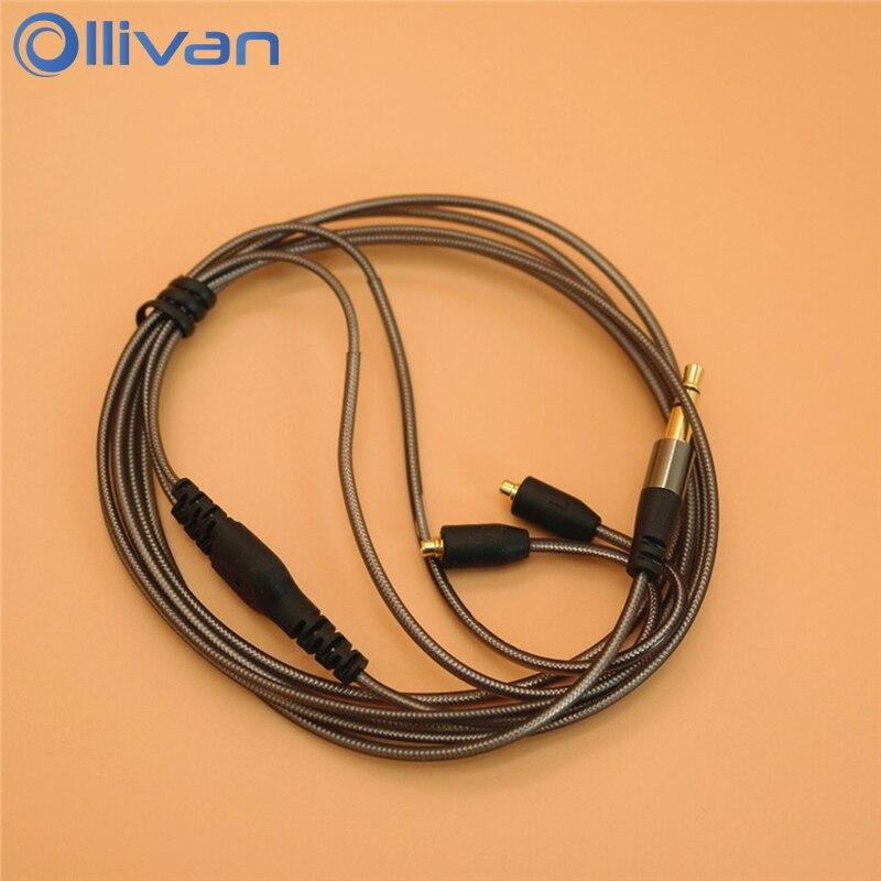 Ollivan BRICOLAGE En Aluminium Feuille MMCX Interface Écouteurs Câble Remplacement Casque Ligne Pour Shure SE215/315/535/846/UE900
