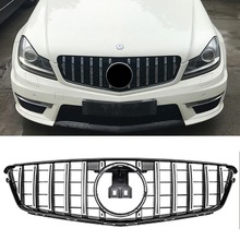 W204 GT GTR Front  silver Grille Mesh FOR Mercedes Benz racing grille 2009-2014