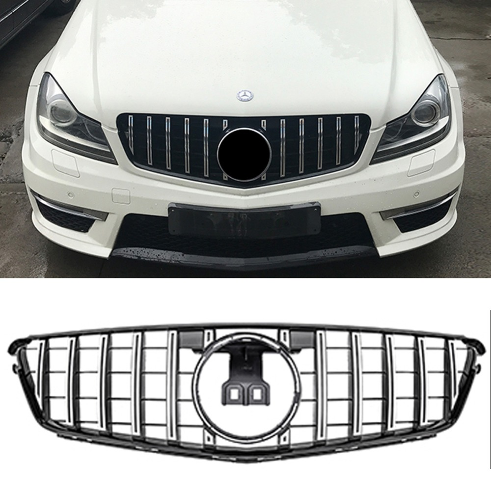 W204 GT GTR Front silver Grille Mesh FOR Mercedes Benz racing grille 2009 2014