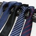 Fábrica 7 CM Poliéster Listras de Seda Clássico Do Vintage Dos Homens Laços Gravata gravata Moda Gravata Formal Do Casamento Do Noivo Negócios