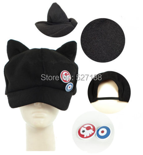 black cat ear baseball cap new hat ebay