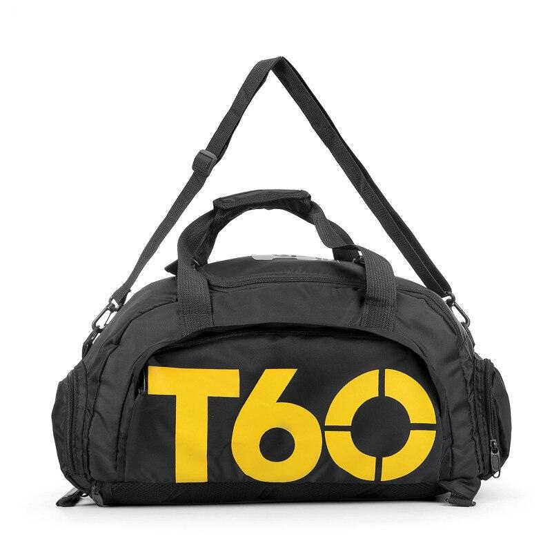 2017 спортивная сумка для женщин фитнес t60 рюкзак  мужская спортивные сумки женские для тренажерного зала Отдельное пространство для обуви и скрыть рюкзак