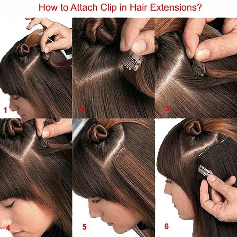 Extensões de cabelo sintéticas