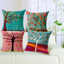 Fashion New Cushion Tree Print pillow Bed Sofa Home Decorative Pillow Fundas Para Almofadas Cojines