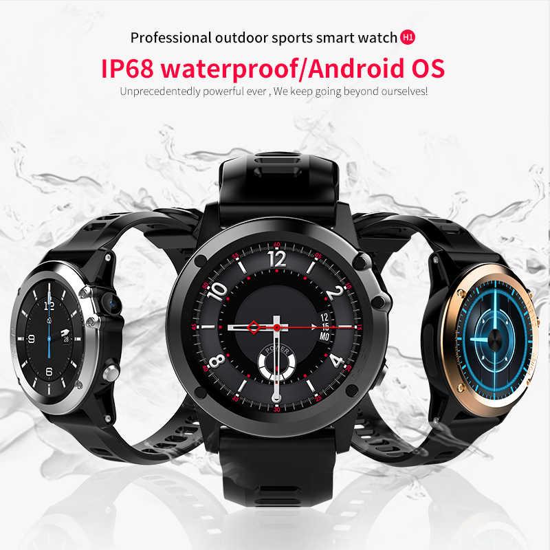 """Microwear H1 reloj inteligente Android 4,4 impermeable 1,39 """"MTK6572 BT 4,0 3G Wifi GPS SIM para Smartwatch hombres dispositivos de tecnología de vestir"""