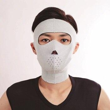 Creative Japan Cogit Face Lift Mask Germanium Face Slimming Sauna Rubber Mask Anti Wrinkle Men Use 3D V-face Masks for Face Lift creative japanese neoprene facial masks facelift mask supports pink germanium face sauna rubber mask women use shape 3d v face