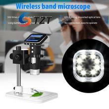 Big discount 500X USB Microscope Portable Digital Lab Mobile HD Magnifier with 3.5inch LCD Screen