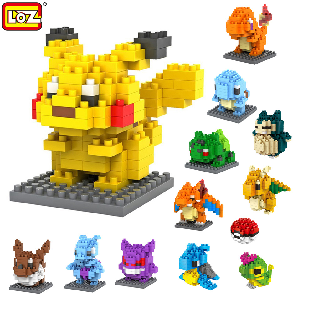 LOZ Pokeball font b Toy b font Charmander Bulbasaur Squirtle Mewtwo Eevee Building Blocks Brinquedos Gifts