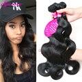 7А Необработанные Девственные Бразильские Волосы Ткать Пучки Объемная Волна Rosa Продукты Волосы Бразильского Виргинские Волос Объемной Волны Человеческих Волос Weave
