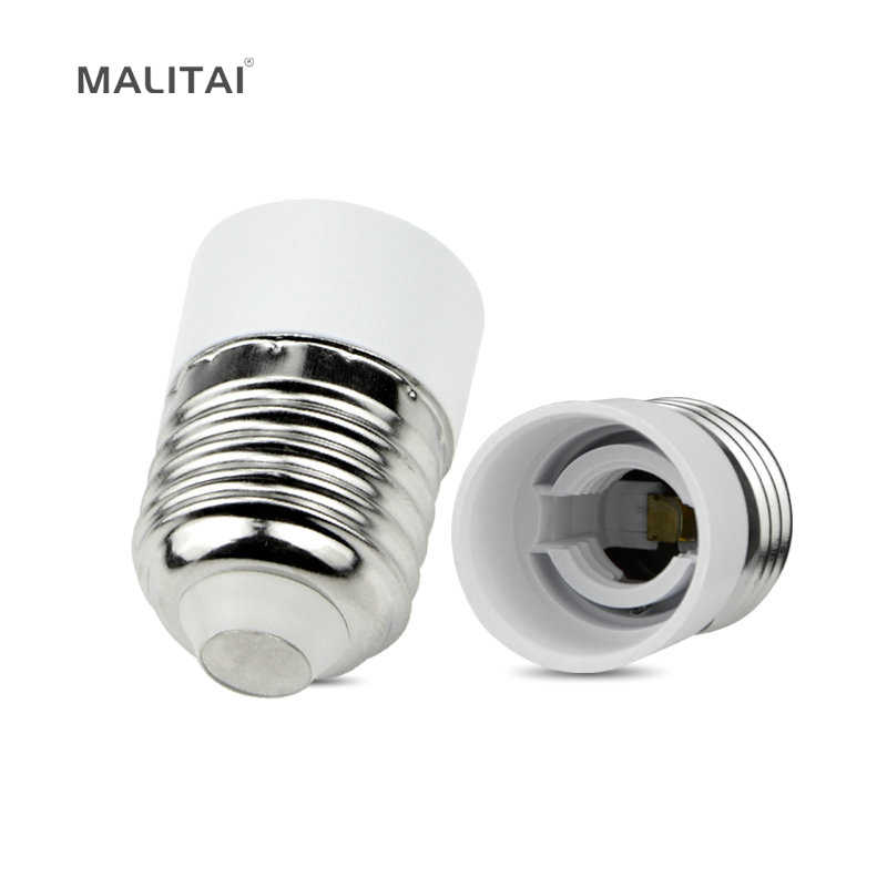 1Pcs Lamp Base E27 to E14 Type light Holder Converter Socket Adapter Bulb Conversion Fireproof Material