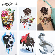 3 Pieces/set HB Beauty Girl 15 Designs Sets Temporary Waterproof Tattoo Sticker For Women Men Arse Arm Back Body Art Decal Beach