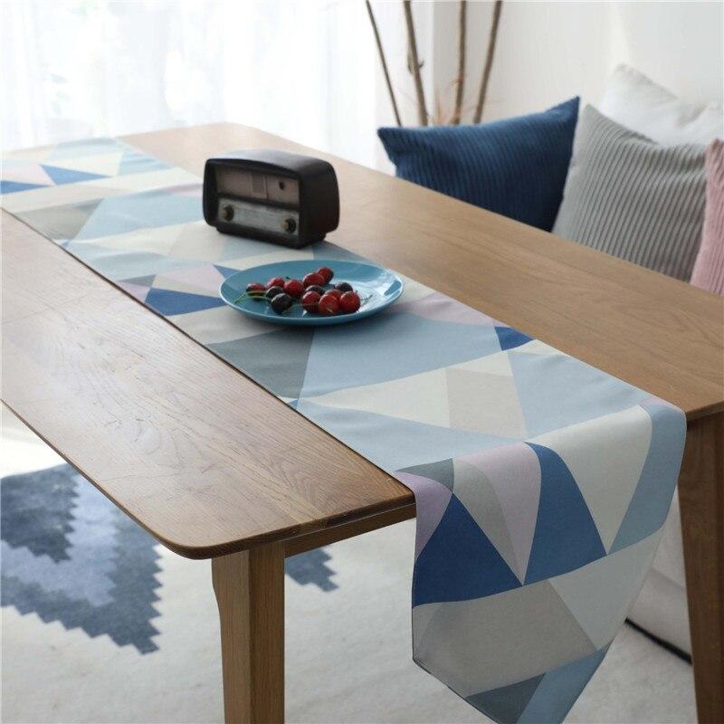 Nodic Geométrica Impressão Corredor Da Tabela Bandeira de mesa Toalha de Mesa Moda Moderno À Prova D' Água Capa para Festa de Casamento Decoração de Casa