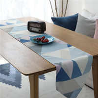 Nodic Print Geometric Table Runner Flag Waterproof Modern Fashion Tablecloth Table Cover for Wedding Party Home Decoration