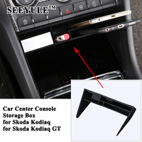 1pc SEEYULE Car Center Console Storage Box Drawer Organizer Styling Refit Stowing Tidying Accessories for Skoda Kodiaq Kodiaq GT