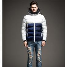 High Quality Men's Parka Fur hood Men Coat Winter Casual & Fit Thick Man Down Jacket Contrast Color Mens Winter Jackets