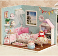 Doll House Dollhouse Room Diy Toy House Set Miniature Doll House Lighting Miniature Dollhouse Handmade Assemble House Toy