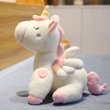 unicorn plush toys movable joint unicorn doll funny creative soft animal pillow stuffed horse kids birthday Christmas gift цена 2017