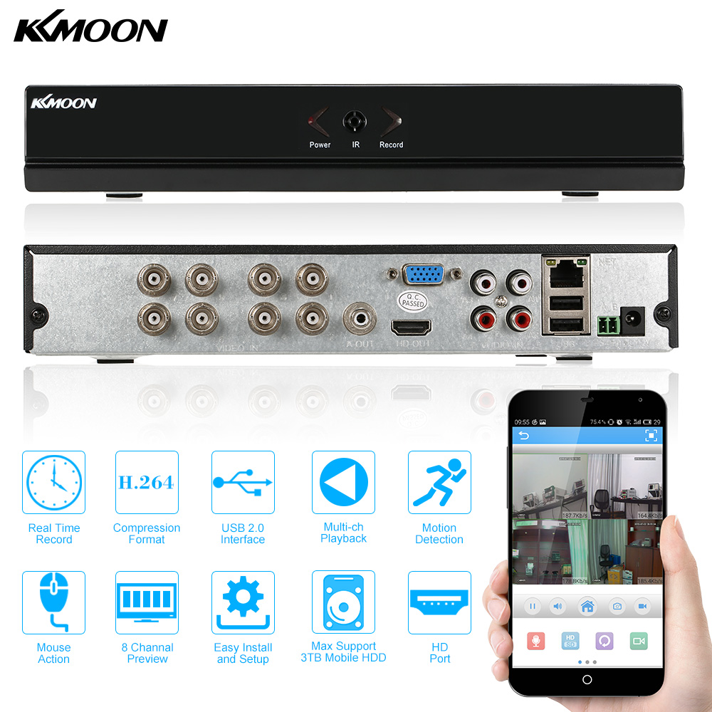 KKmoon CCTV DVR 8 Channel 960H D1 P2P Digital Video Recorder HDMI VGA Output 8CH H