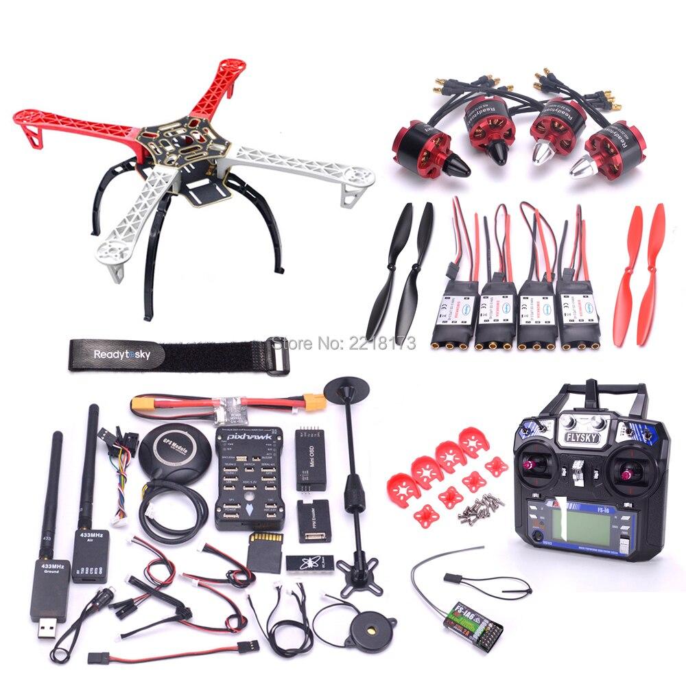 F450 450 Quadcotper Frame Kit Pixhawk 2.4.8 32 Bit Flight Controller with M8N GPS 433 telemetry 2212 920kv motor Flysky I6 FS I6