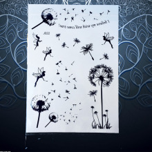 1PC Popular Fashion Flash Temporary Tattoo Fairy Dandelion Design Women Black Ink Henna Jewel Waterproof Tattoo Dandelion PBJ022
