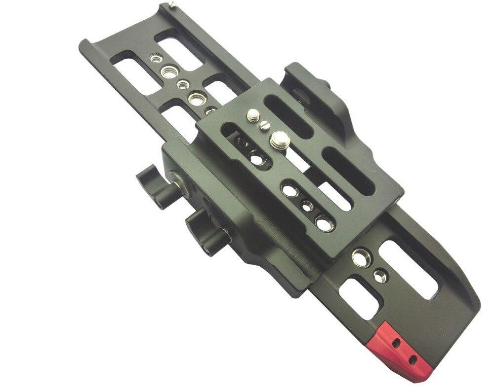 HONTOO Baseplate 15mm Rod Rail Support System Baseplate