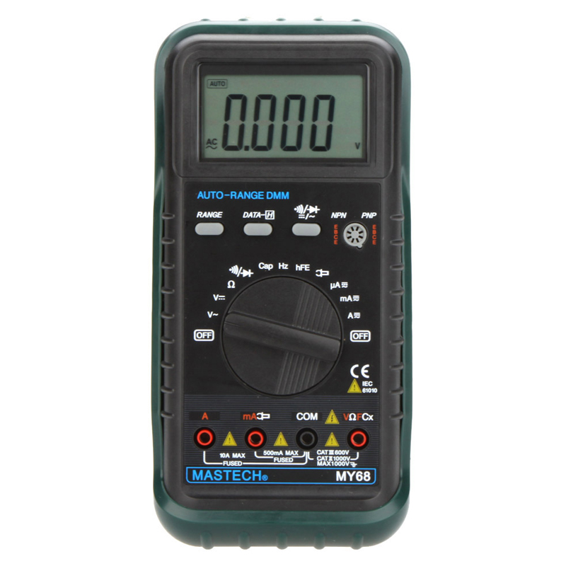 ФОТО 1pcs MASTECH MY68 Handheld LCD Auto Range DMM Digital Multimeter DC AC Voltage Current Ohm Capacitance Frequency Meter