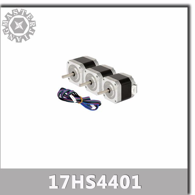 3 pcs 4-chumbo Nema17 17 42 Do Motor de Passo Nema do motor motores passo a passo 42BYGH 42 1.7A (17HS4401) motor da impressora 3D e CNC XYZ.