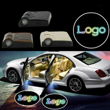 цена на JURUS 2Pcs Wireless LED Car Logo Door Welcome Light Case For Chevrolet Logo Led Courtesy Laser Projector Lamp Ghost Shadow Light