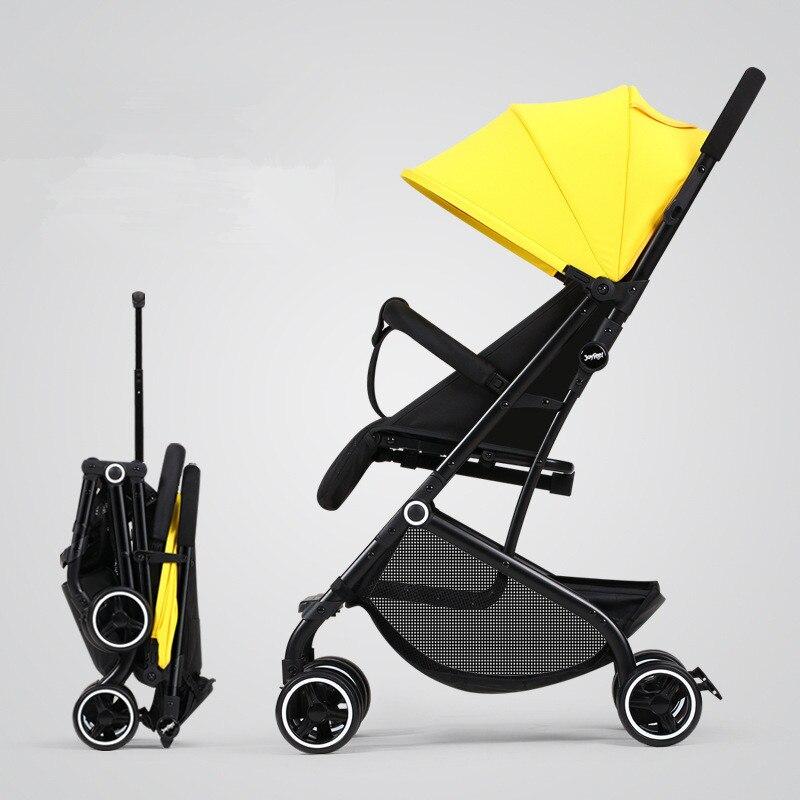 Livraison gratuite Portable avion léger bébé poussette mode chariot pour nouveau-né européen landau voyage maternelle