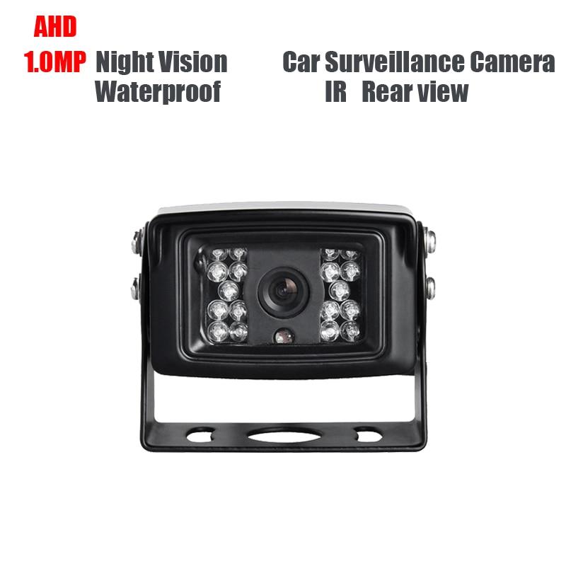 все цены на AHD 1.0MP Waterproof Car Rear View Camera Truck Backup Camera Lorry Vans School Bus Reverse Camera IR Night Vision DC12V онлайн
