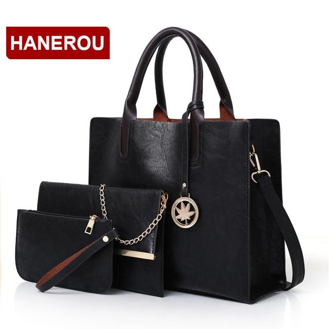 3 Pcs Leather Handbag 4