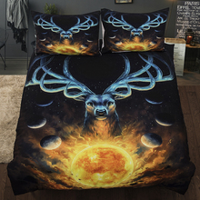 Wongs bedding cartoon deer anime universe duvet cover 3D Printing colorful Bedding Set single twin full queen king size bedlinen