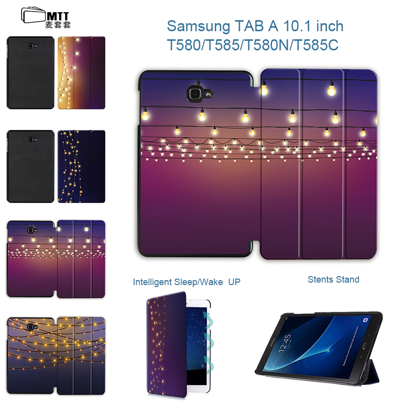 MTT Lantern Tablet case For Samsung Galaxy Tab A 10.1 2016 T580 Case PU Leather Stand Case Flip Cover for Tab A6 10.1 inch T585N new fashion tab s3 9 7 tablet case pu leather flip cover for samsung galaxy tab s3 9 7 inch t820 t825 cute stand cover 6 colors