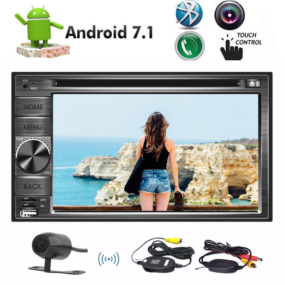 Backup Camera 8 Core Android 7 1 Car DVD CD Player 6 2 Doule Din Car