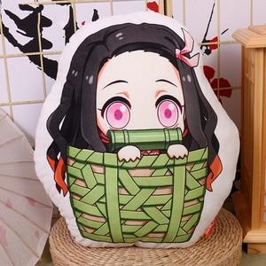 Image 3 - אנימה שד סלייר Kimetsu לא Yaiba קאמאדו Nezuko קוספליי בובת קטיפה ממולא כרית צעצוע כרית מתנה חדש