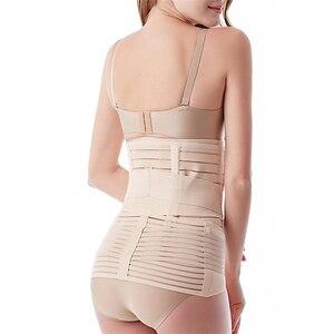 Image 3 - Miss Moly 3 in 1 Postpartum Support Recovery Belly Wrap Waist/Pelvis Belt CIncher Body Shaper Maternity Postnatal Shapewear Set