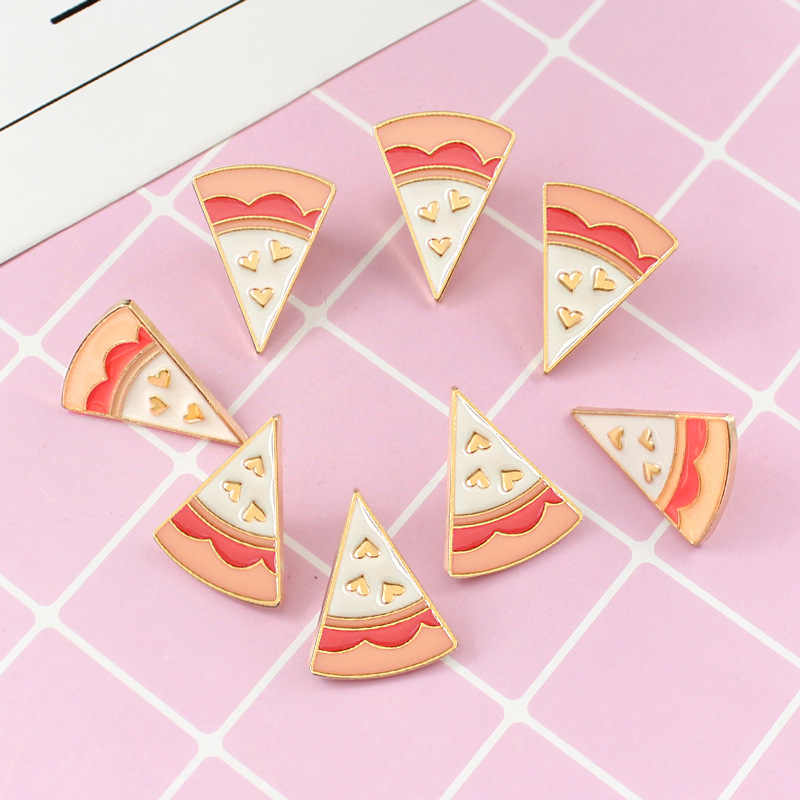 Fashion Teman Terbaik Keju Pizza Bros Delapan Buah Per Set Bersama Enamel Kerah Pin Lencana Hadiah Pizza Bros Perhiasan