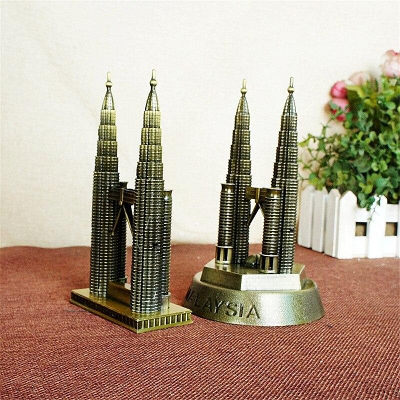 참신 공예 뉴욕 쌍둥이 빌딩 기념품 선물 청동 3D 금속 공예 고급 관광 트윈 타워 모델 빈티지 홈 장식
