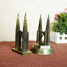 Novelty Craft New York Gemini Building Souvenirs Gift Bronze 3D Metal Craft fine tourist Twin Towers model Vintage Home Decor