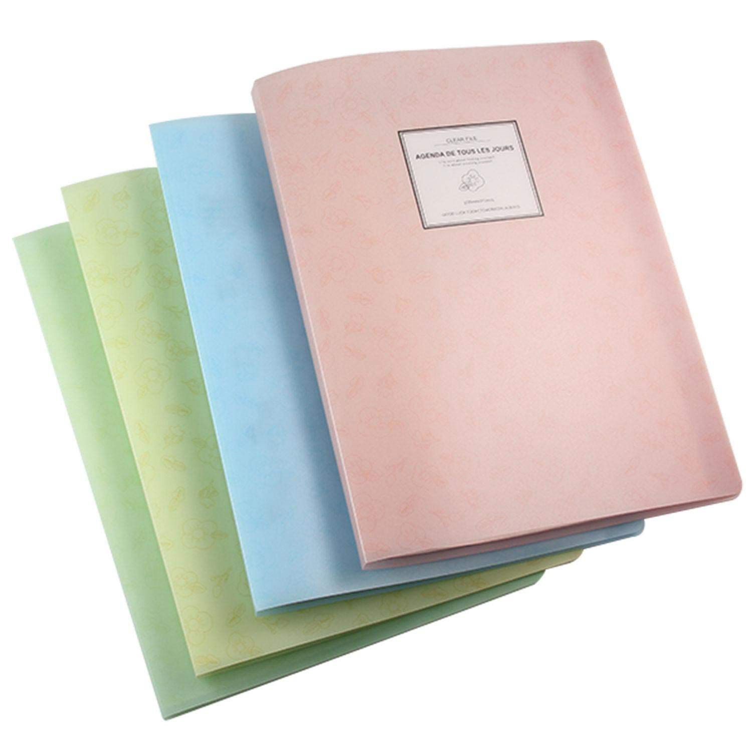 A4 Display Book Folder Paper Storage Plastic 20 Pockets