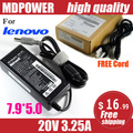MDPOWER For Lenovo 20V 3.25A X200 notebook power AC adapter charger cord