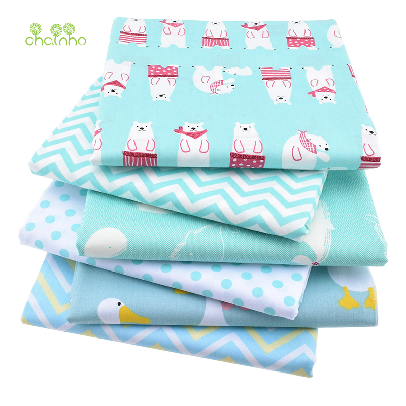 6pcs lot twill cotton fabric patchwork cartoon tissue for Children s material sewing