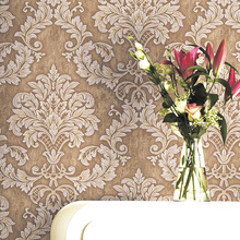 New 2019 Vintage 3d Floral Non-woven Fabric Wallpaper Retro Flower Design Victorian Wall Paper Roll Yellow/gray/blue/green american style rustic blue wallpaper roll vintage floral non woven butterfly wall paper bedroom wallpapers flower wall decals 3d