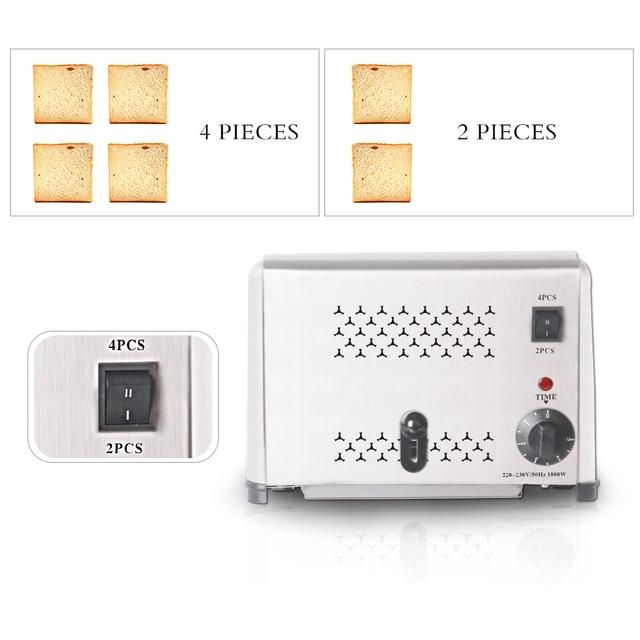 ITOP Stainless Steel 4 Slices Toaster Machine Breakfast spit driver Breakfast Machine baking bread maker sandwich heater 4