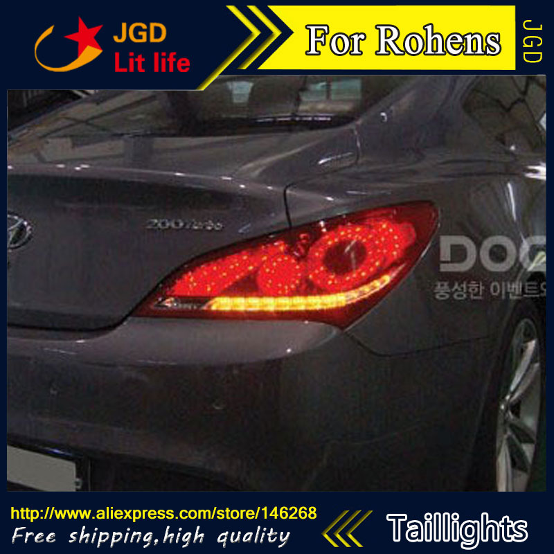 Car Styling tail lights for Hyundai Rohens LED Tail Lamp rear trunk lamp cover drl+signal+brake+reverse lsrtw2017 car styling car trunk trims for honda crv 2017 2018 5th generation