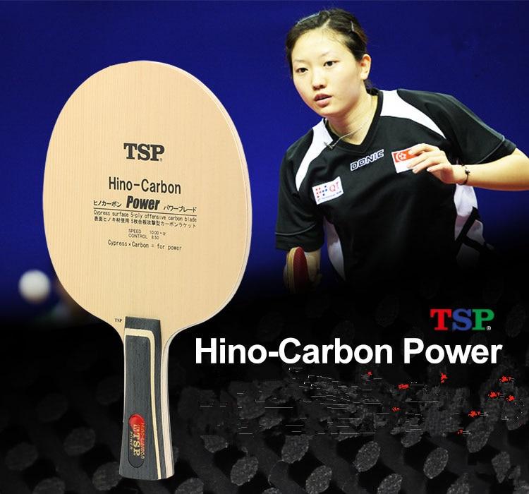TSP Hino-Carbon Power (Li Jiawei's) Table Tennis Blade (3+2 Carbon, Hinoki Surface) Racket Ping Pong Bat TSP 22194 21223 22195 цена