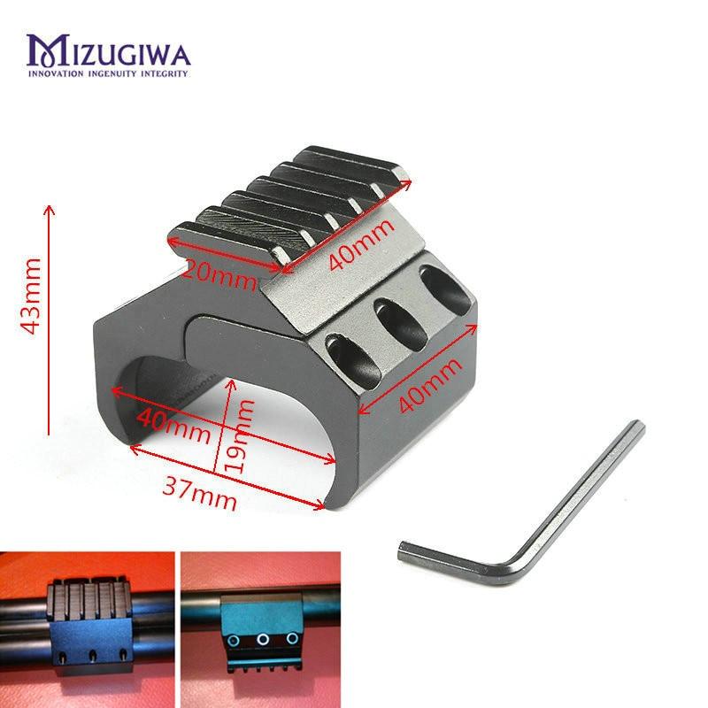 MIZUGIWA Tactical Hunting Swivel Converter 20mm Weaver Picatinny Adapter Rail Bipod Flashlight Mount Laser Sight Base Rifle Gun