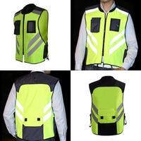 Motorcycle Riding Reflective Vest Team Uniform Fluorescent Protective Clothing Vest