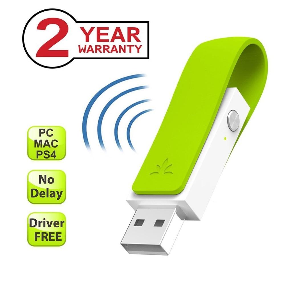 Avantree aptX Bassa Latenza A LUNGO RAGGIO Bluetooth 4.1 Adapter per PC, senza Driver USB Wireless Audio Dongle Trasmettitore per PS4