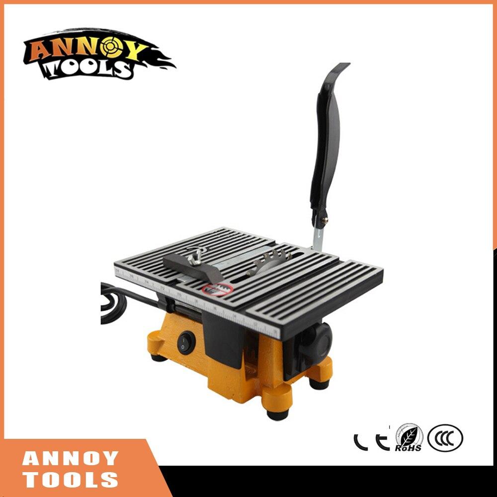 цена на New 220V 60w Mini Table Saw/Mini Bench Saw 1pc Alloy Blade 1pc Diamond Blade Cuts Stone Wood Copper Aluminium Lead